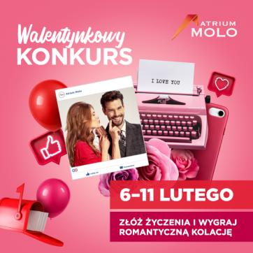 Walentynkowy Konkurs na profilu Facebook Atrium Molo!