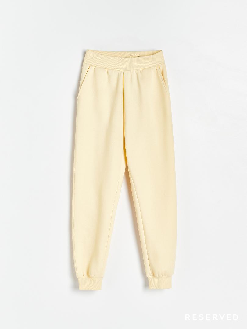 Reserved - Spodnie dres cytryna
