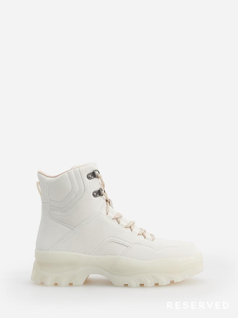 Reserved - Białe buty za kostkę