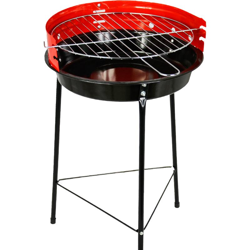grill węglowy z żeliwnym rusztem