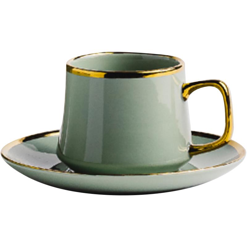 Home&You - filiżanka ze spodkiem w kolorze zielonym