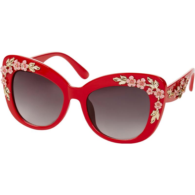 okulary przeciwsłoneczne z kwiatowym wzorem