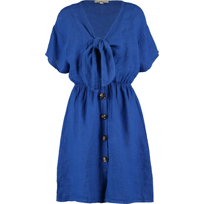 Tk Maxx - sukienka z wiązaniem niebieska