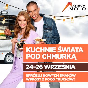 Food trucki zaparkują przed Atrium Molo
